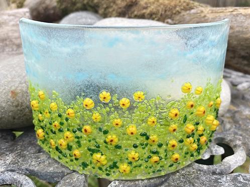 Cheery Sunflower Meadow Glass Arc