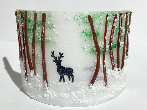 Stag Among Pine Trees Candle Arc