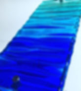 Blue Ocean #fusedglassart #dorsetartist