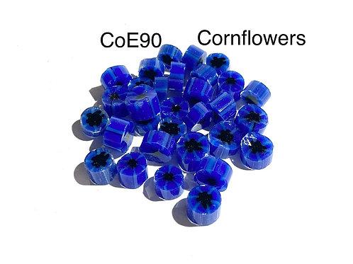 CoE90 Cornflower Glass Murrini