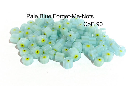 CoE 90 Baby Blue Forget-Me-Not Glass Murrini for Glass Artists