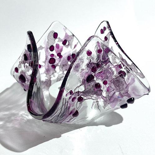 Purple Spice Handkerchief Tealight Holder