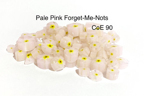 CoE 90 Baby Pink Forget-Me-Not Glass Murrini for Glass Artists