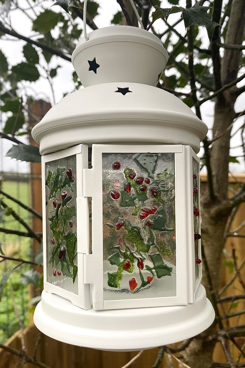 Christmas Holly Lantern