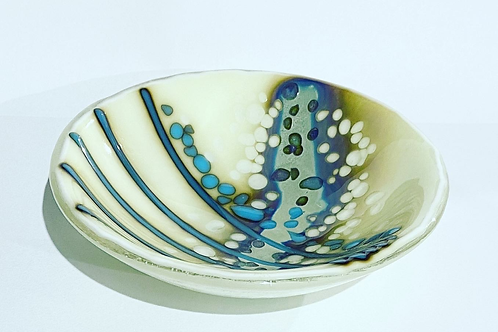 Turquoise and Vanilla Bowl