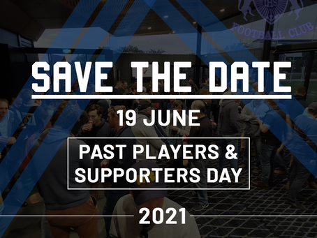 SAVE THE DATE   Past Players & Supporters Day