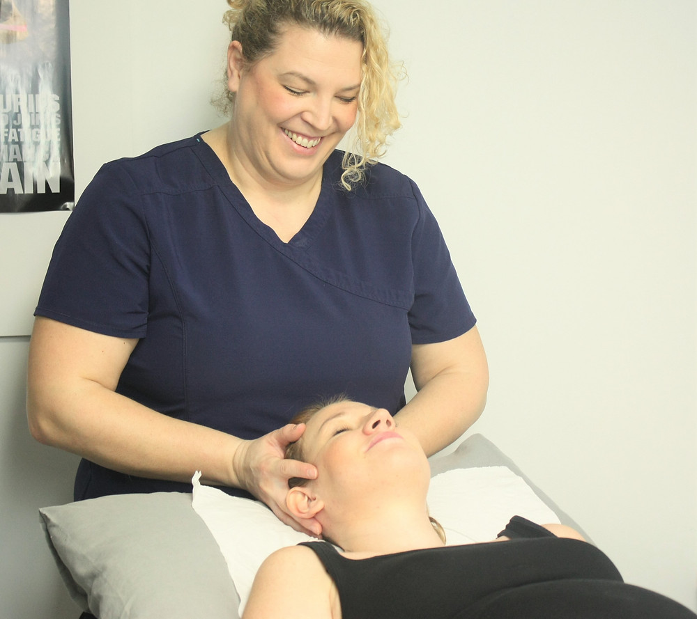 Southampton osteopath performing treatment for a patient suffering with migraine and headaches