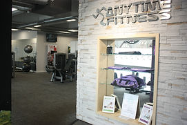 Anytime Fitness Totton near Southampton. Osteopathic clinic reception.