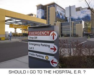 Should I go to ER