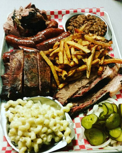 Feast your eyes on the Texas Sunday Feast! feeds 4 fat guys like me, but will easily feed 6! #texasf
