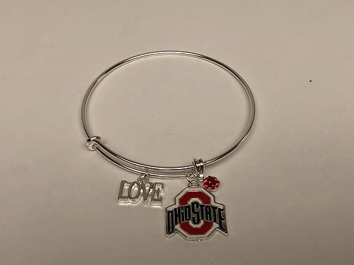 Ohio State Love Bangle
