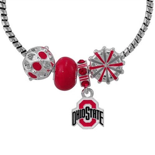 Ohio State Charm Cuff Bracelet