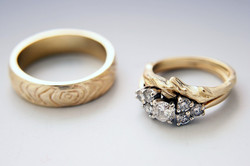 Custom Engagement and Wedding Rings