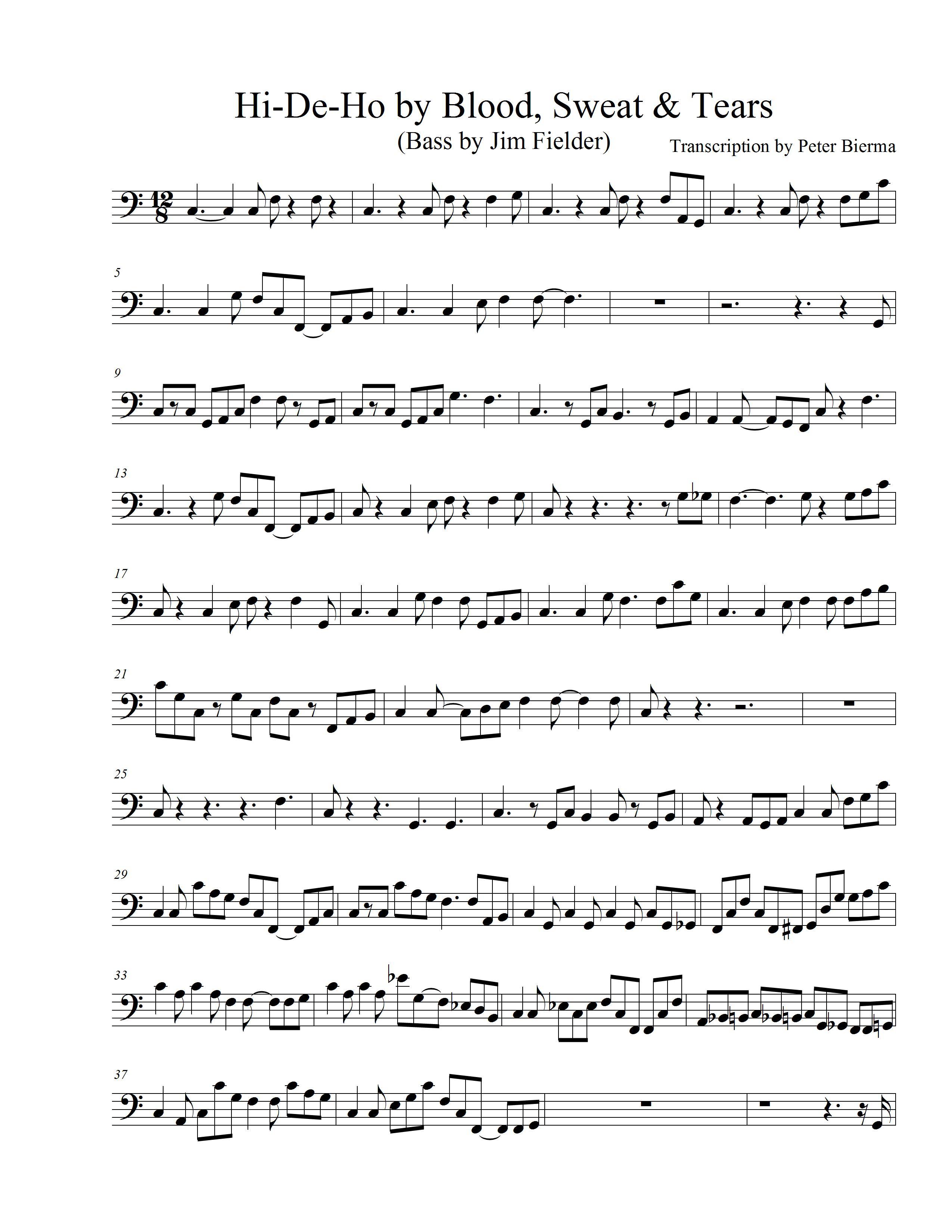 Thebasscase free bass transcriptions hexwebz Choice Image