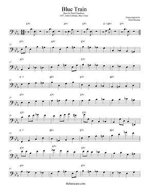 "Bass Transcription: Paul Chambers - ""Blue Train"""