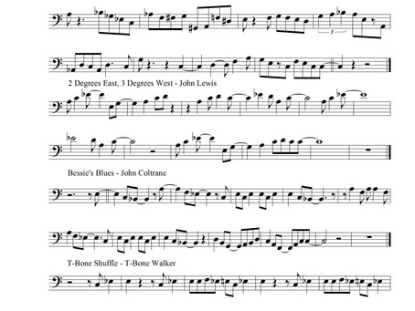 Bass Transcription: 10 Blues Melodies for Bass