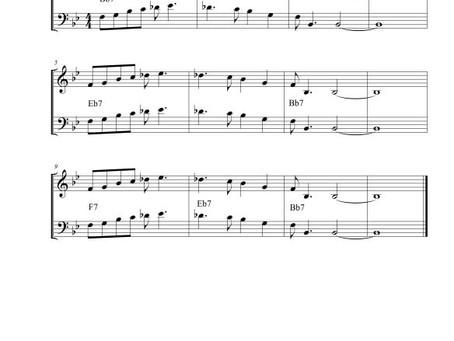 Bass Transcription: The Late Late Blues (Milt Jackson)