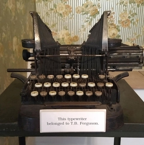 Typewriter belonging to T. B. Ferguson -