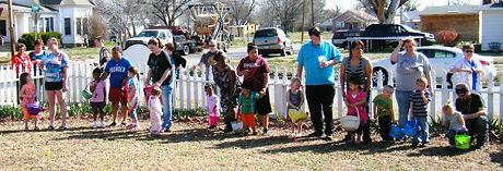 Lined up for Easter Egg 2 Hunt .JPG