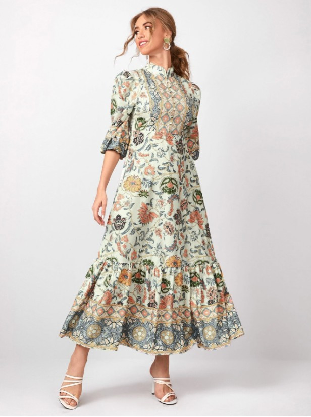 Floral Maxi Boho Dress - Client Wardrobe