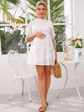 White Mini Maternity Dress - Client Ward