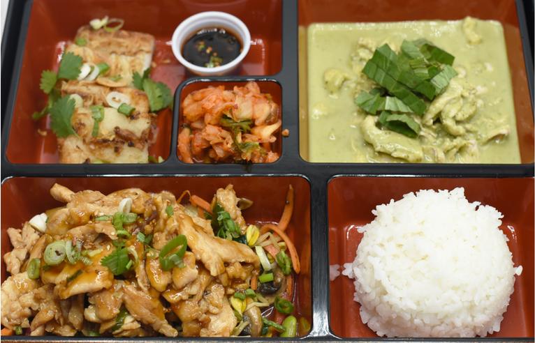 Teriyaki & Garden Green Curry