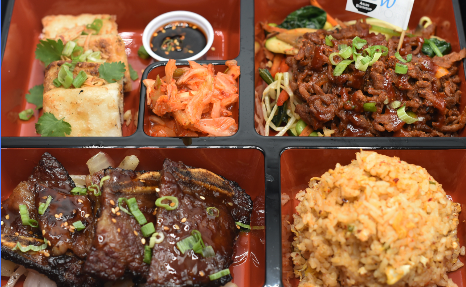 BBQ Rib & Spicy Korean Beef