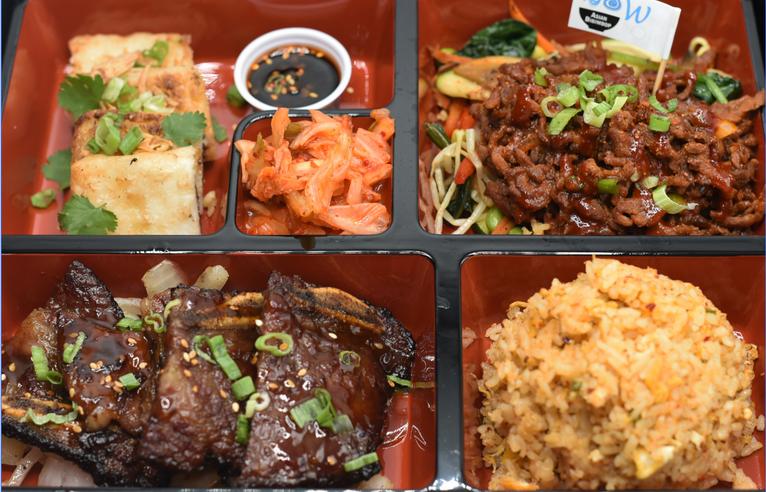 BBQ Rib & Spicy Korean Beef
