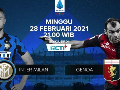 Prediksi Liga Italia Inter Milan Vs Genoa: Terus Berlari, Nerazzurri!