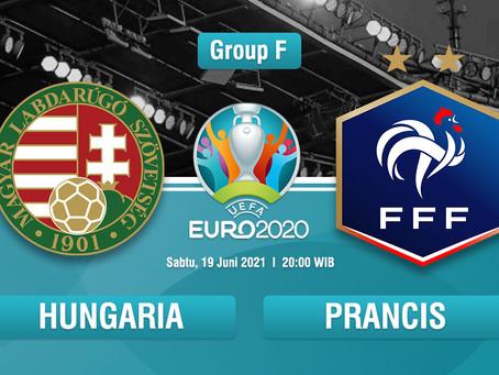 Prediksi Hungaria Vs Prancis, Euro 2020 19 Juni: Catatan Pertemuan, Peluang dan Skor