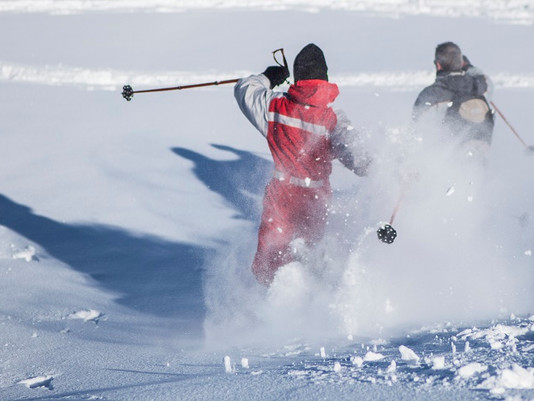 Les sentiers balisés raquette à neige à la Plagne