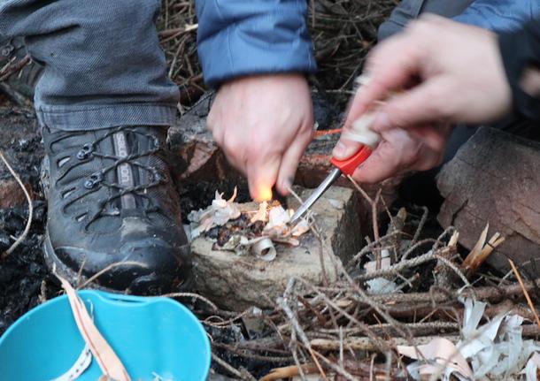 Atelier allumer du feu