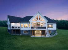 architectural photography, exterior landscape, leonardtown, maryland. Modern farmhouse residential architecture