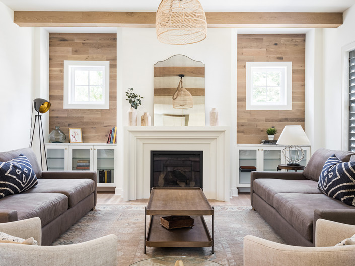 architectural and interior design photo: beautiful family room, bethesda, maryland
