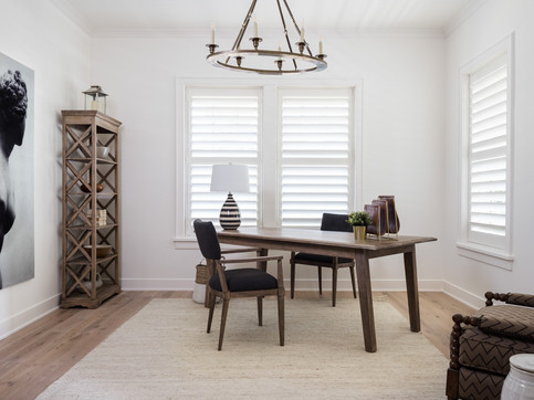architectural and interior design photo: beautiful family room, home office, maryland