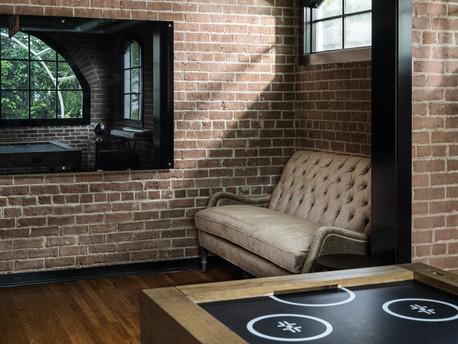 architectural and interior design photo: beautiful basement, bethesda, maryland