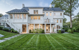 Architectural and real estate photography: bethesda, maryland, twilight modern house