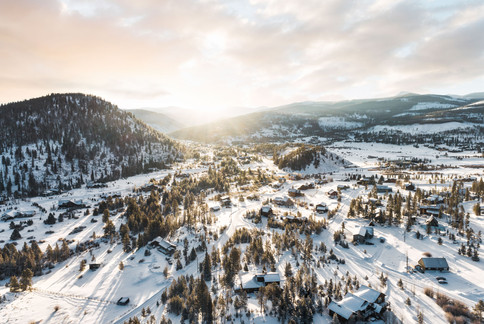 Aerial Sunrise Breckenridge Colorado