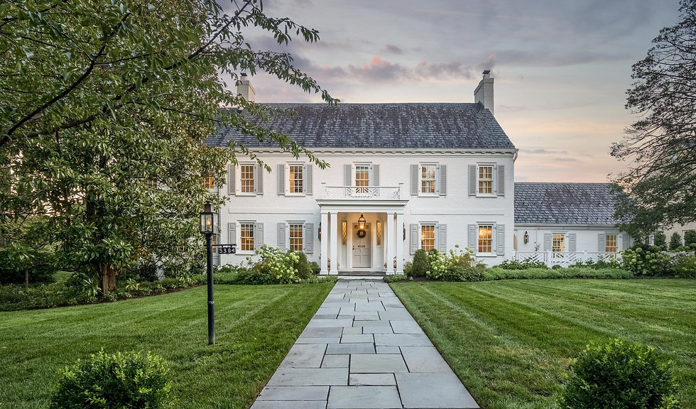 Luxury Real Estate and Architectural Twilight Photo Bethesda, Maryland
