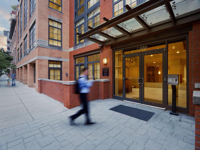 commercial architectural photograph, commercial building twilight, washington d.c.