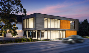 commercial architectural photograph, commercial building twilight, annapolis, md