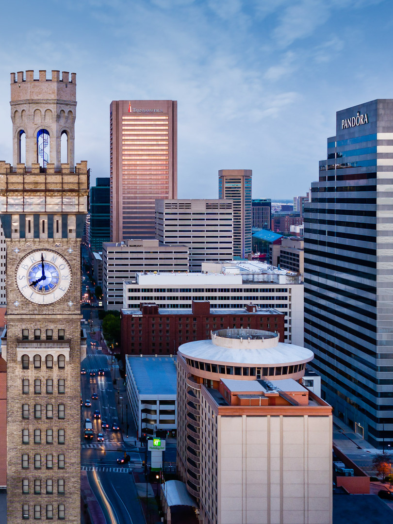 Balimore-MD-CitySkyline-Downtown-Aerial-