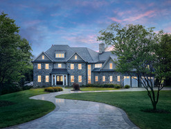 Architectural and real estate photography: pasadena, maryland, twilight modern house