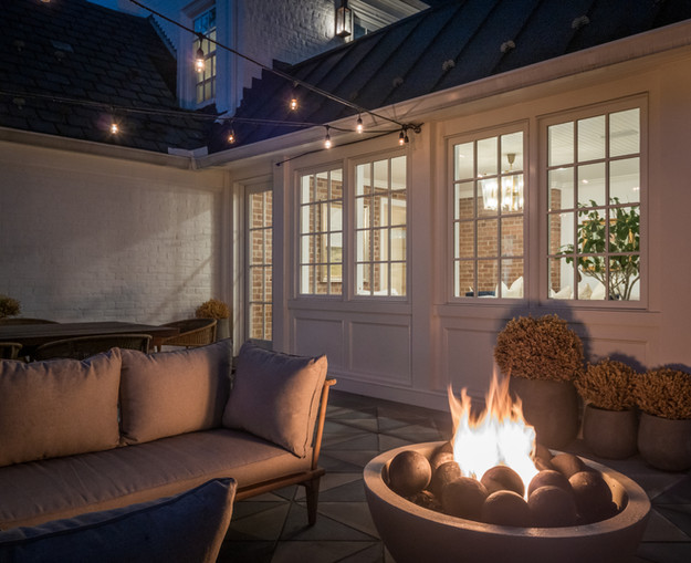 architectural and interior design photo: beautiful outdoor patio space, bethesda, maryland