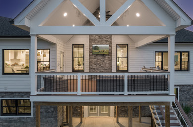 aerial photography and architectural photography, leonardtown, maryland. Modern farmhouse residential architecture