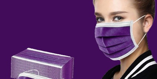 Purple Disposable Face Masks (10/50/100/200 pcs)