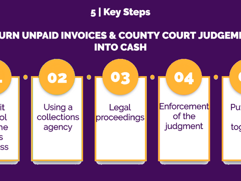 5 Key Steps to Turn Unpaid Invoices & County Court Judgement into Cash