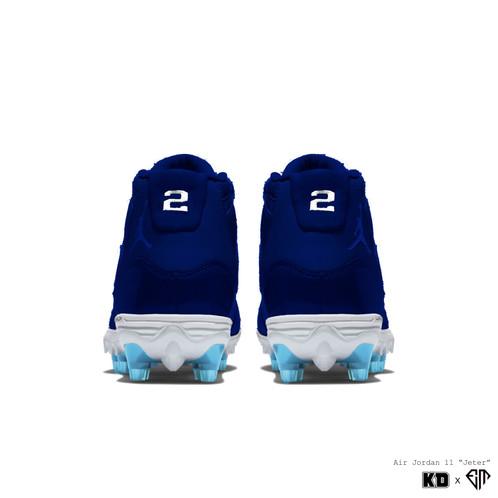"962faa8afb66 KDxEM WEEK 12  ""Derek Jeter"" Air Jordan XI Retro Plastic Cleats. (Can be  used for football"