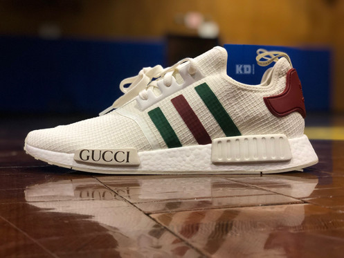 88fa71e99 The popular Adidas NMD R1 s get the Gucci treatment with the infamous red  and green stripes! No better way to feed your inner hypebeast or show your  love ...
