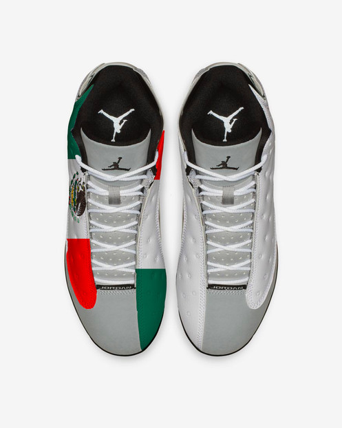 a6bcf8485c48 Represent your home country in these Mexico-themed classics! Design comes  on the PLASTIC Air Jordan 13 ...